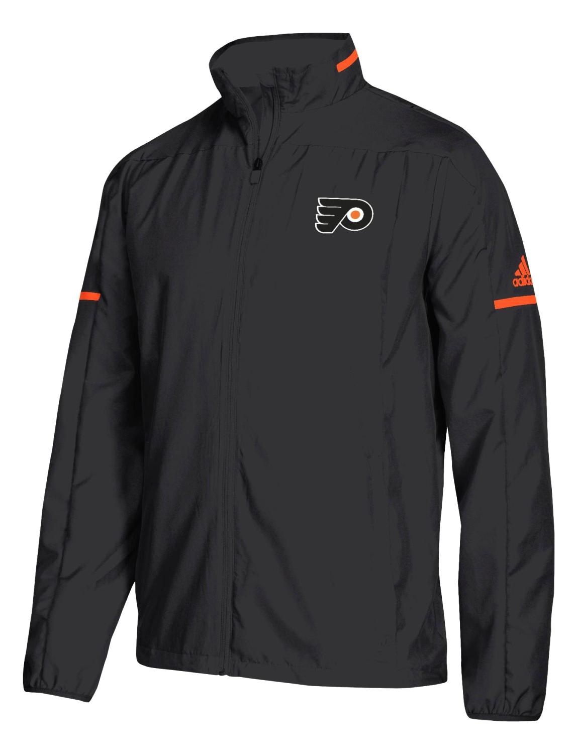 "Philadelphia Flyers Adidas NHL Men's ""Penalty Box"" Full Zip Rink Jacket"