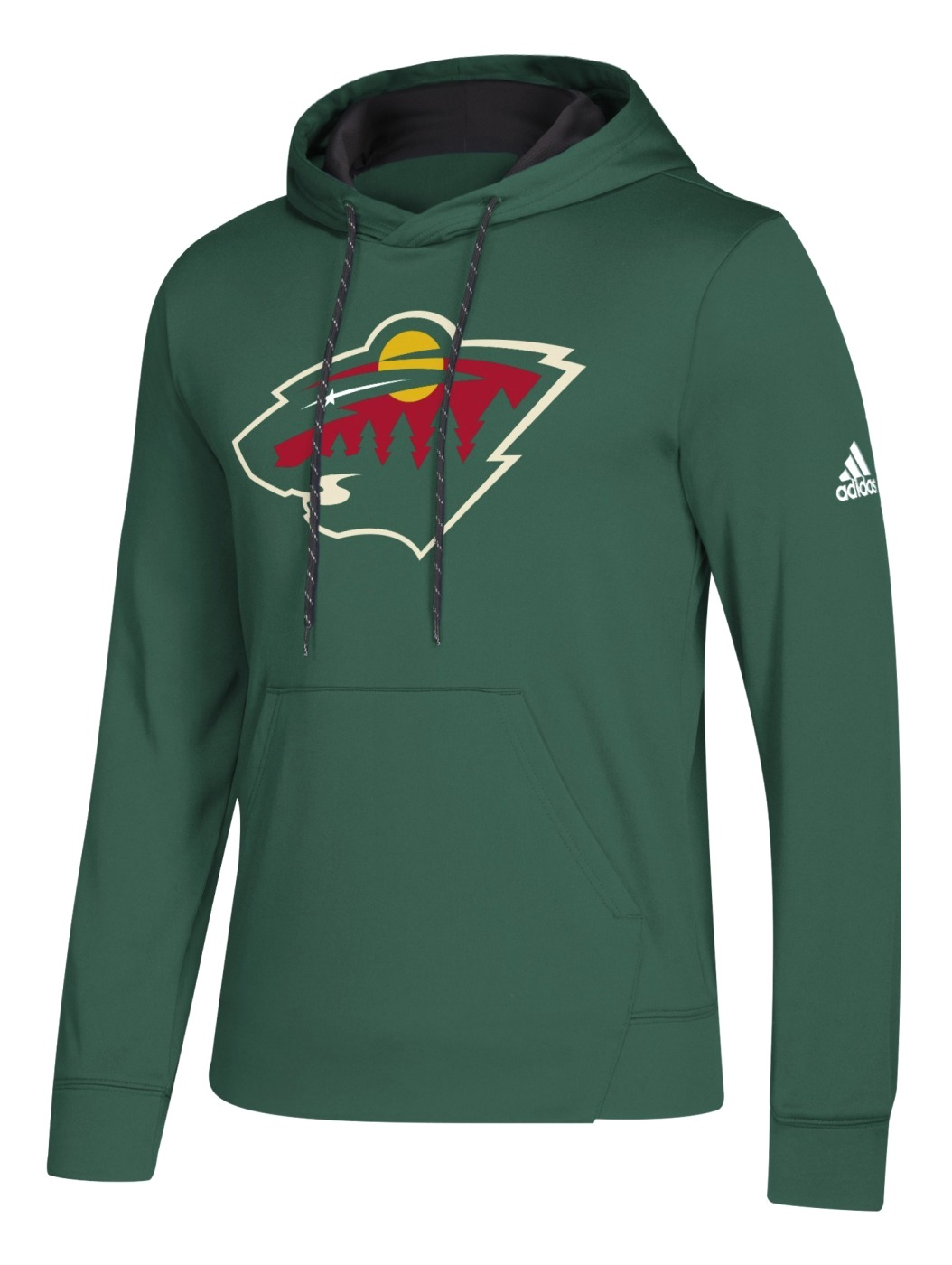 "Minnesota Wild Adidas NHL Men's ""Goalie"" Pullover Hooded Sweatshirt"