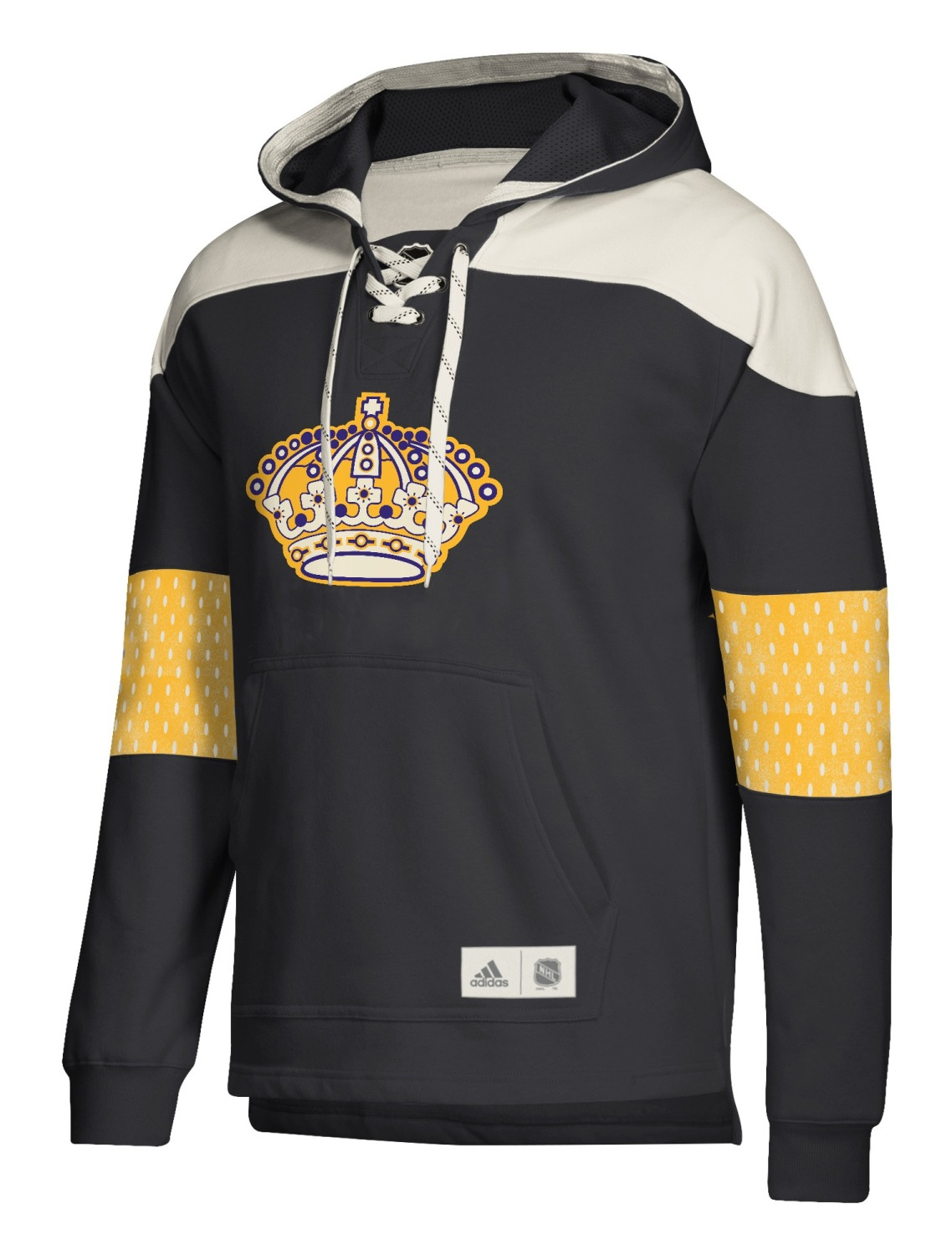 "Los Angeles Kings Adidas NHL Men's ""Crossbar"" Vintage Jersey Sweatshirt"