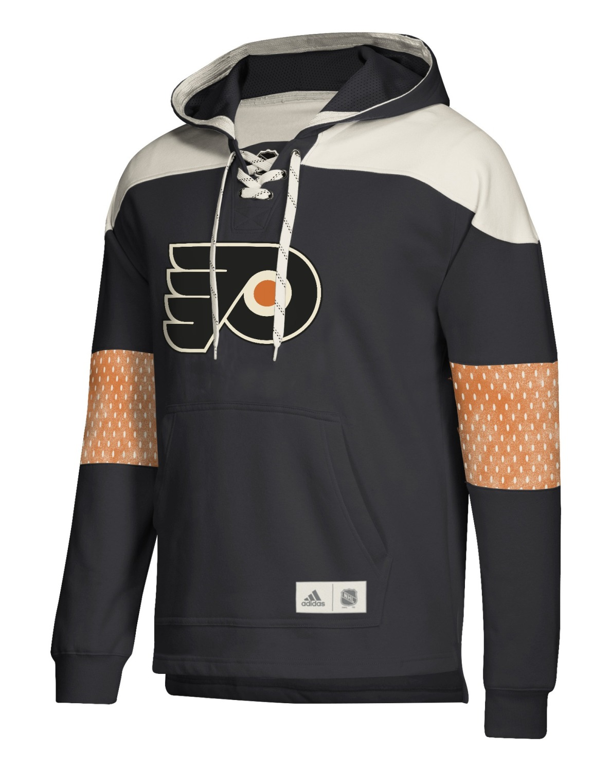 "Philadelphia Flyers Adidas NHL Men's ""Crossbar"" Vintage Jersey Sweatshirt"