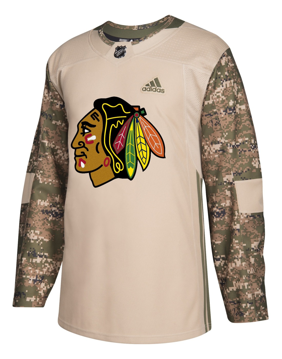 Chicago Blackhawks Adidas NHL Camouflage Pre-Game Authentic Warm Up Jersey
