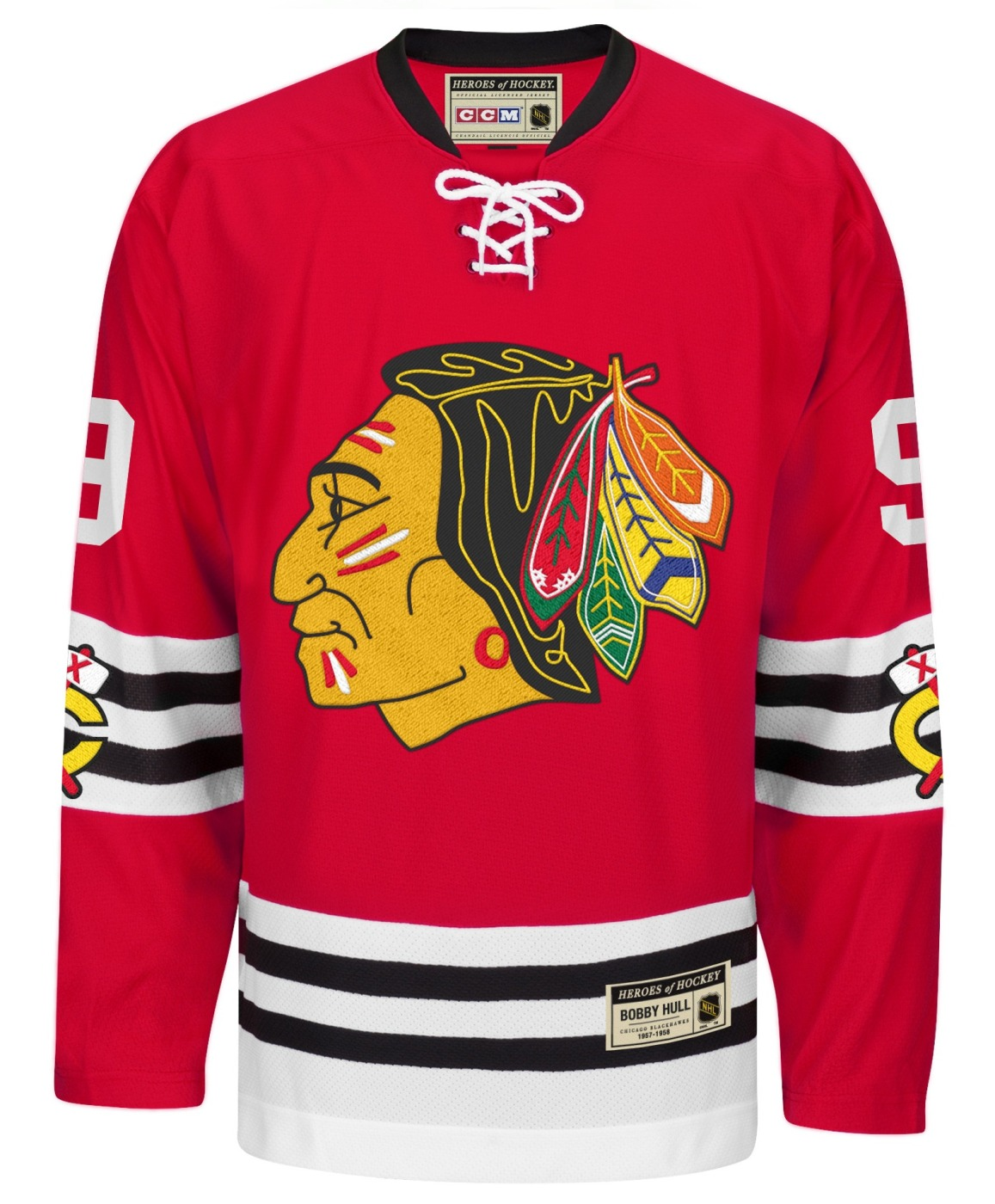 "Bobby Hull Chicago Blackhawks CCM ""Heroes of Hockey"" Authentic Red Jersey"