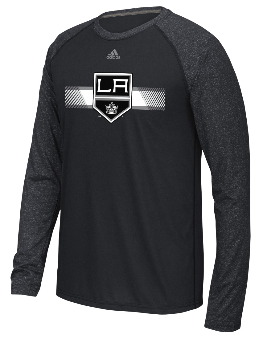 "Los Angeles Kings Adidas NHL ""Resurface"" Men's Climalite L/S T-Shirt"
