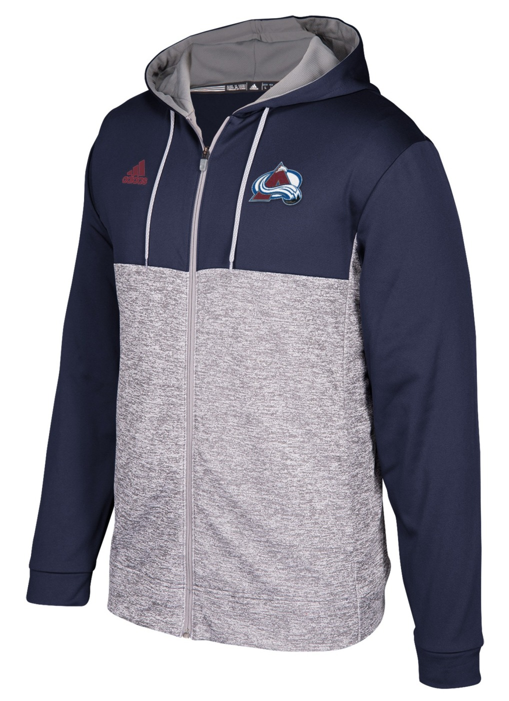"Colorado Avalanche Adidas NHL Men's ""Blocking"" Full Zip Hooded Sweatshirt"