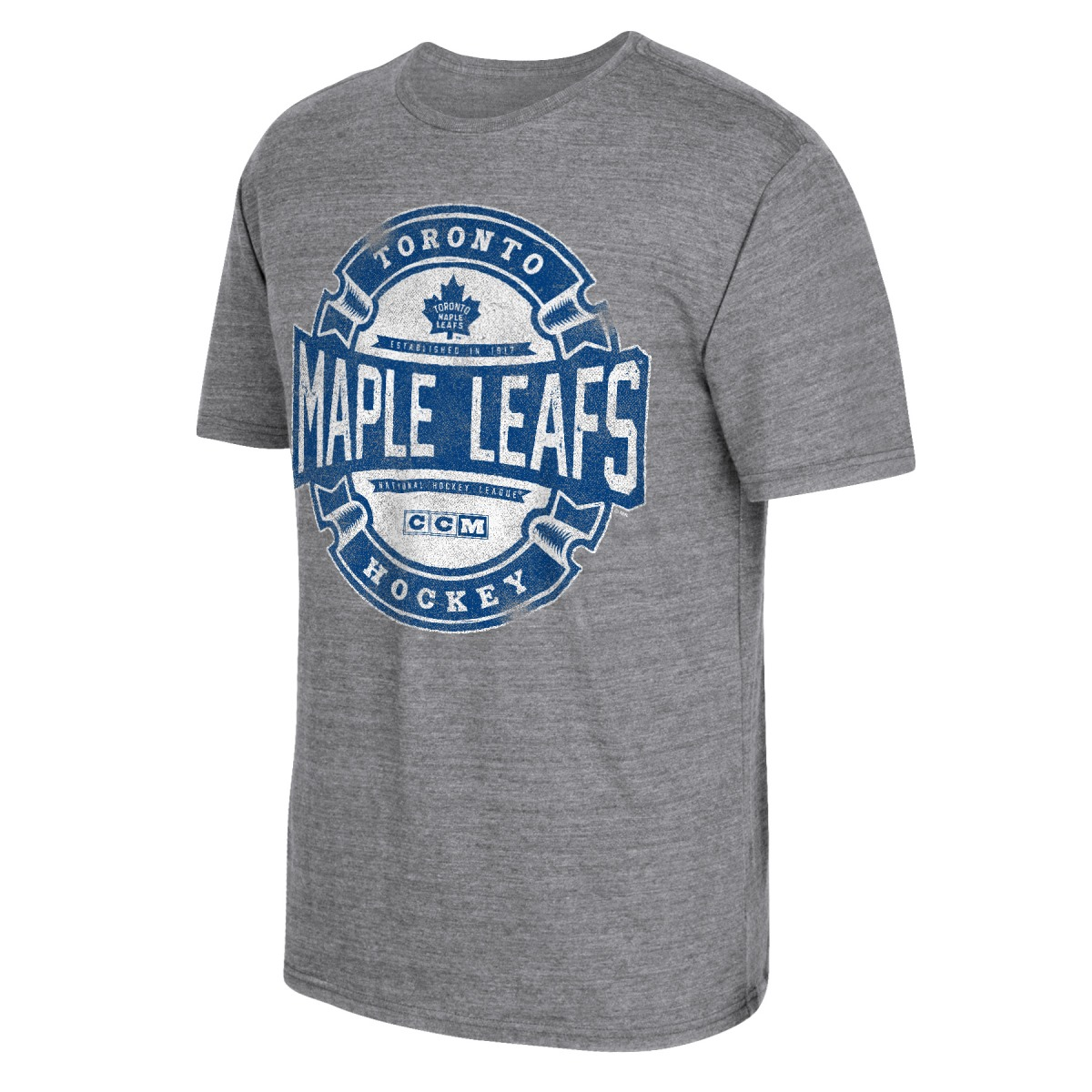"Toronto Maple Leafs CCM ""Game Tested"" NHL Distressed Tri-Blend Men's T-Shirt"