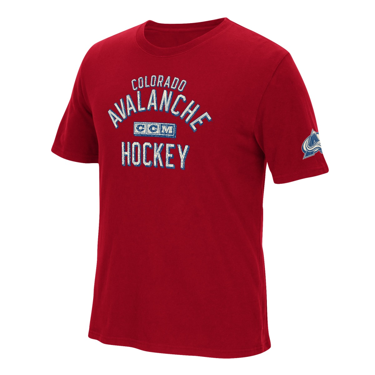 "Colorado Avalanche CCM ""Back in the Day"" NHL Distressed Men's Premium T-Shirt"