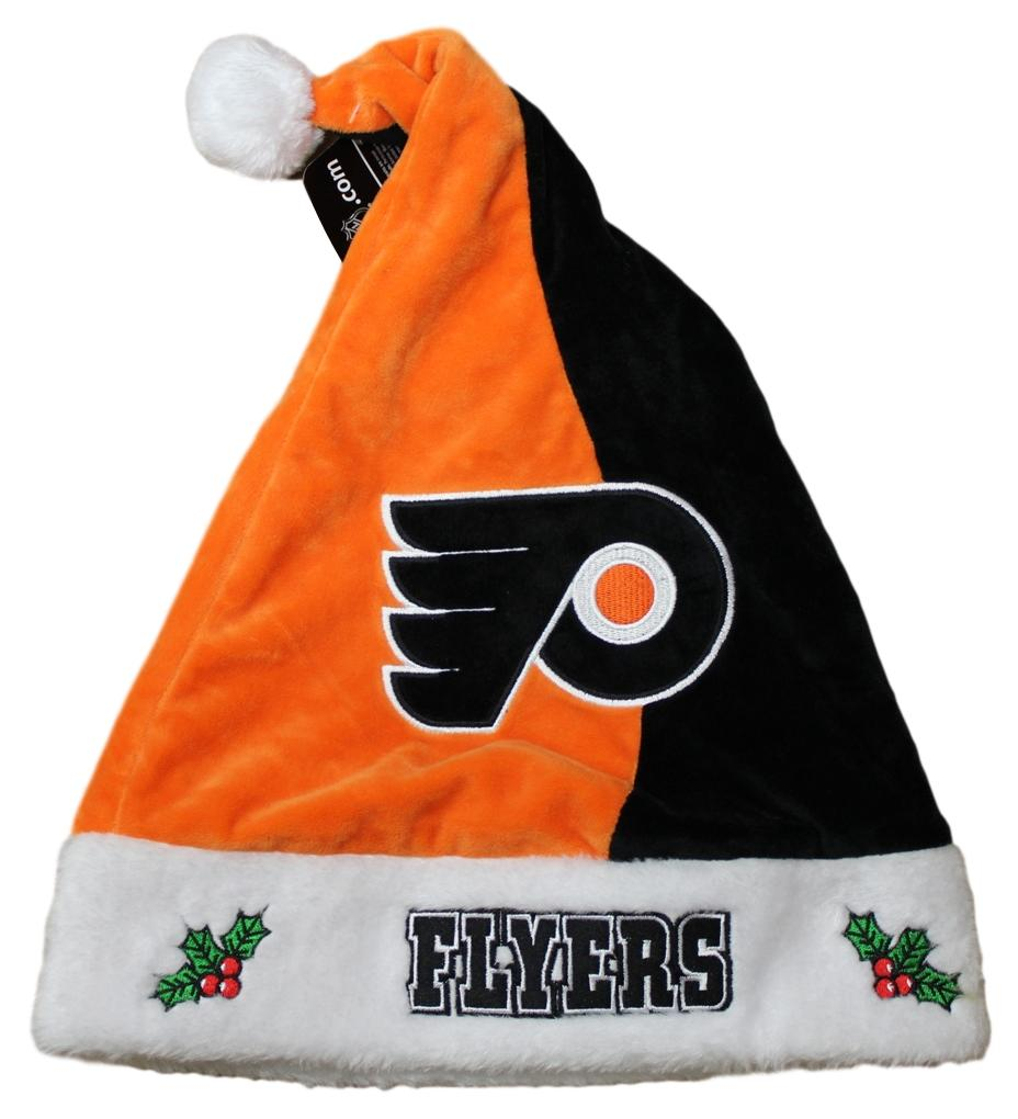 Philadelphia Flyers 2017 NHL Basic Logo Plush Christmas Santa Hat