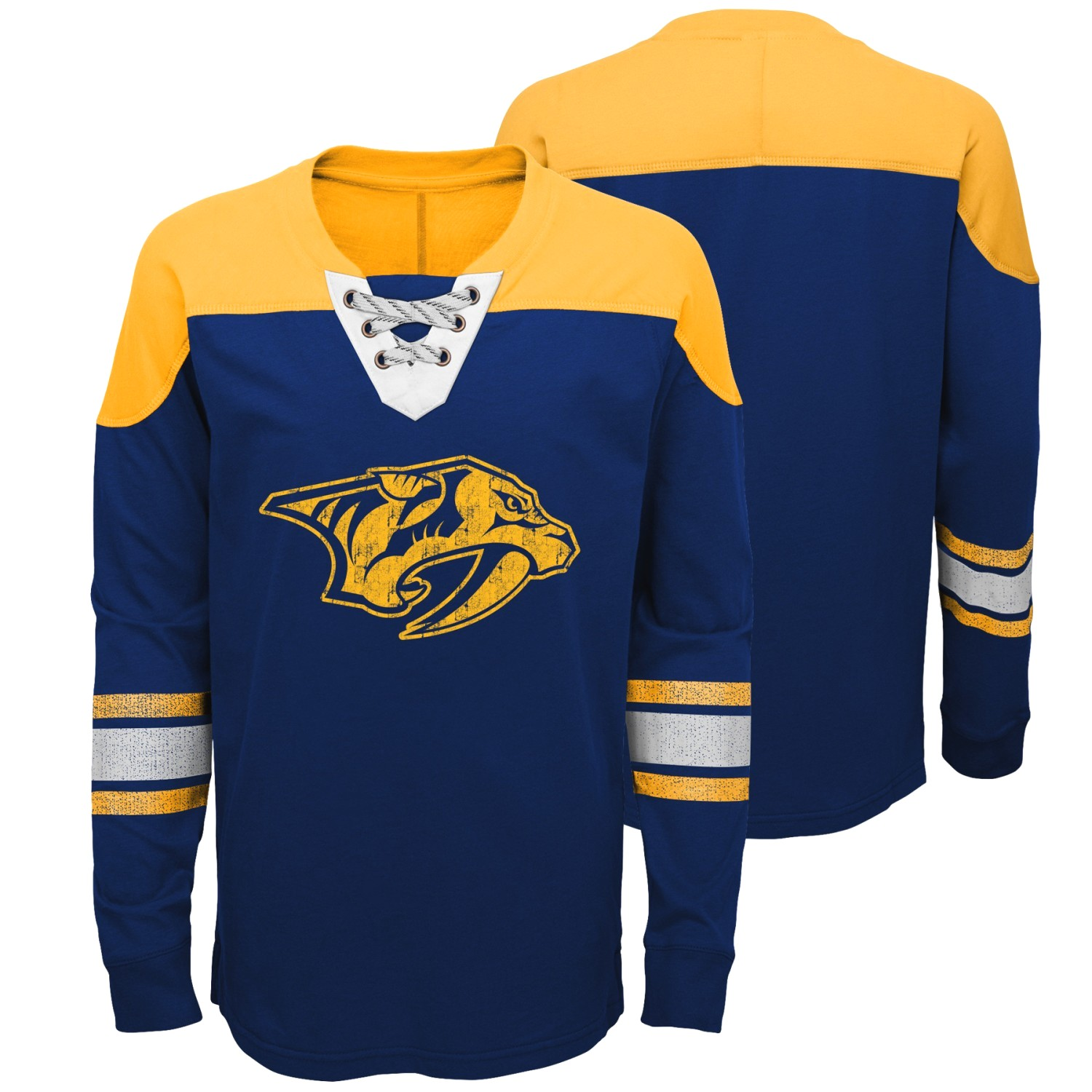 "Nashville Predators NHL ""Perennial"" Youth Long Sleeve Hockey Crew Shirt"