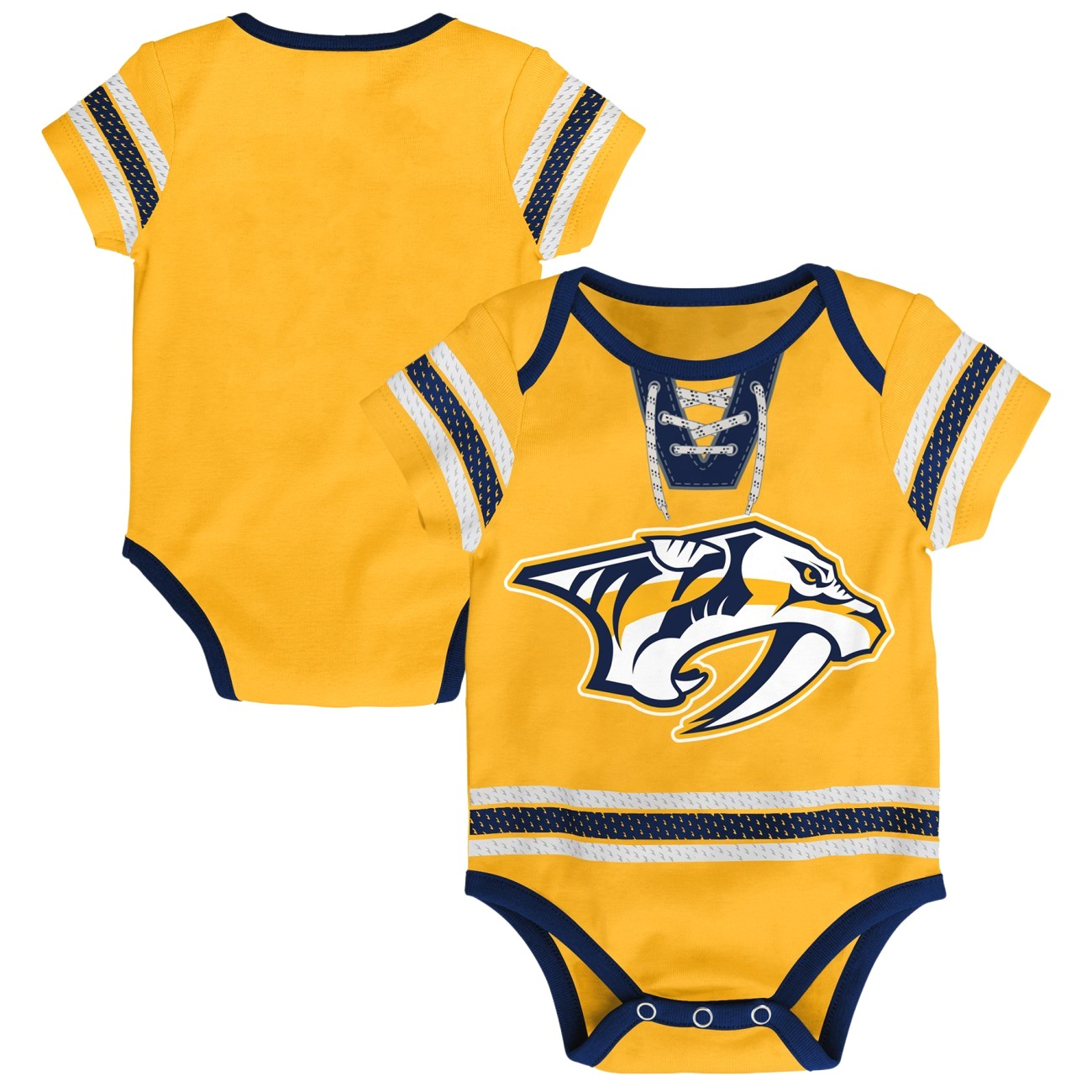 "Nashville Predators NHL ""Cherry Picking"" Infant Bodysuit Creeper Set"
