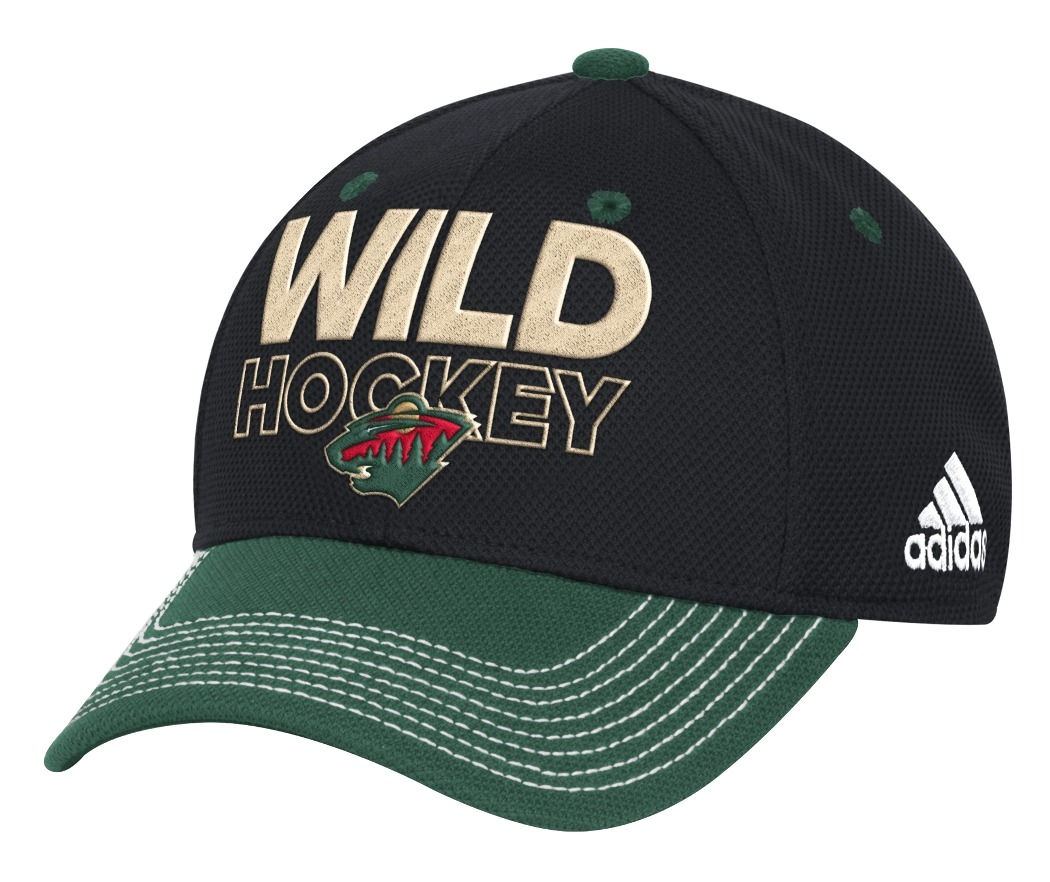 Minnesota Wild Adidas NHL Authentic Locker Room Structured Flex Hat
