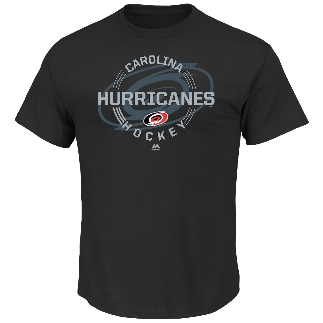 "Carolina Hurricanes Majestic NHL ""Clearing the Puck"" Short Sleeve Men's T-Shirt"