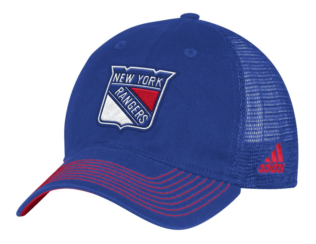 new york where to buy shop New York Rangers Adidas NHL Face-Off Slouch Flex Fitted Mesh Back ...