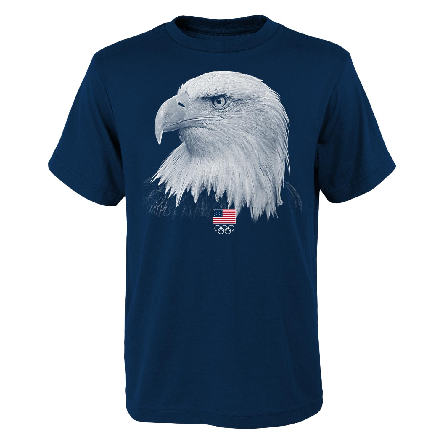 "Team USA Olympic Games ""Wings of Freedom"" Men's Short Sleeve Navy T-shirt"