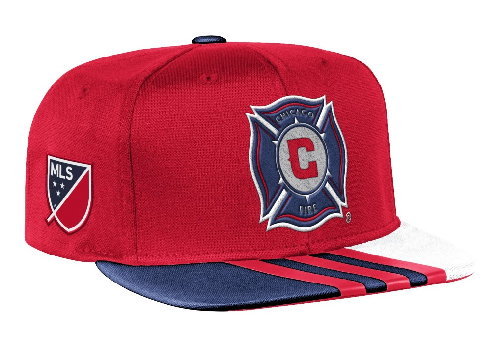 Chicago Fire Adidas MLS 2017 Authentic Team Performance Snap Back Hat