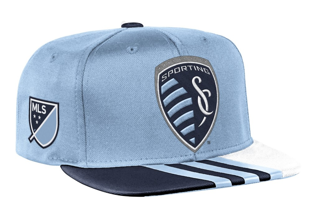 Sporting Kansas City Adidas MLS 2017 Authentic Team Performance Snap Back Hat