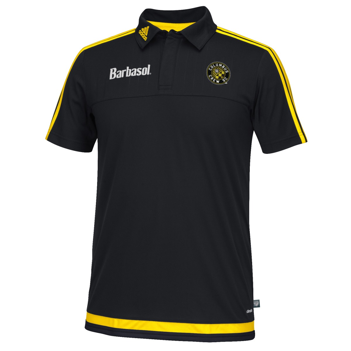 Columbus Crew Adidas MLS Climacool Authenic On Field Polo Shirt