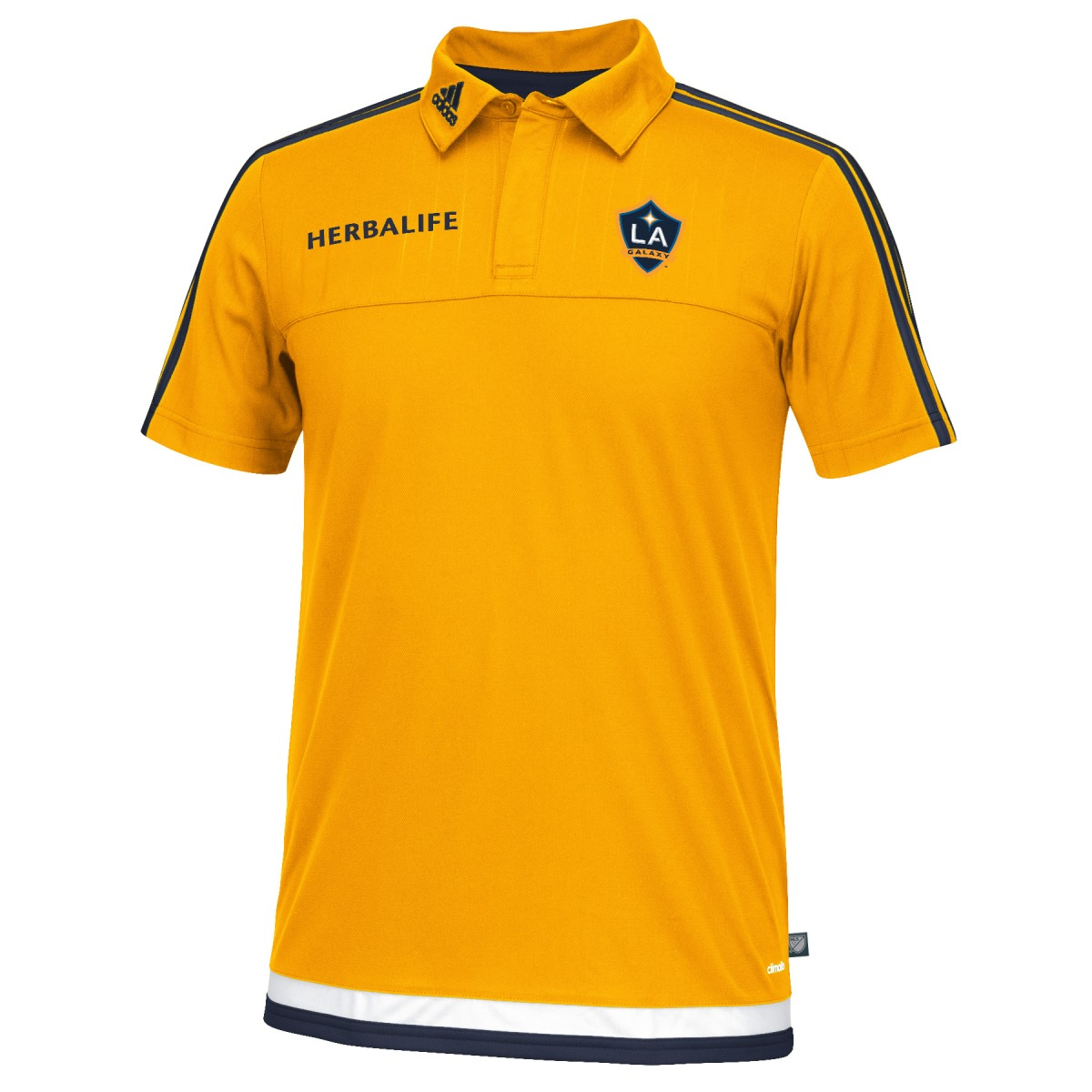 Los Angeles Galaxy Adidas MLS Climacool Authenic On Field Polo Shirt