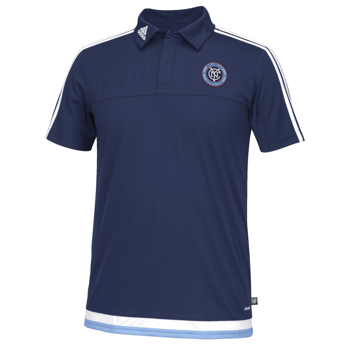 New York City FC Adidas MLS Climacool Authenic On Field Polo Shirt
