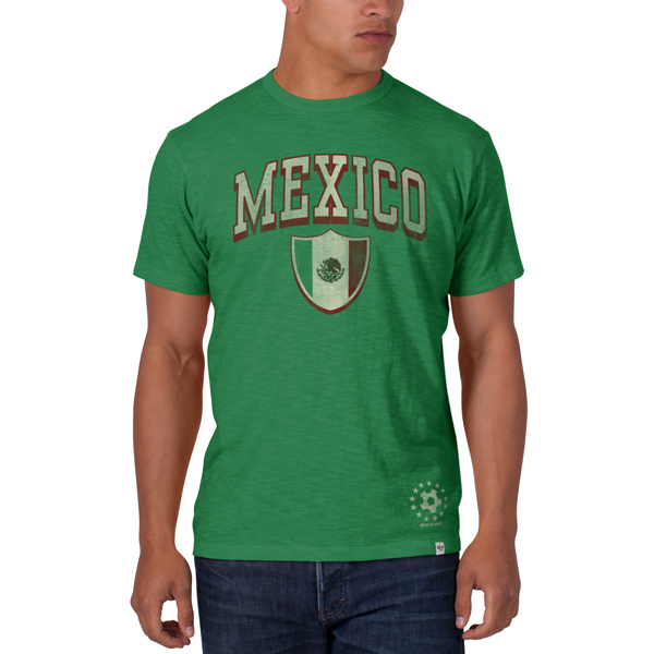 Mexico 2014 FIFA World Cup Soccer 47 Brand Scrum Premium T-Shirt