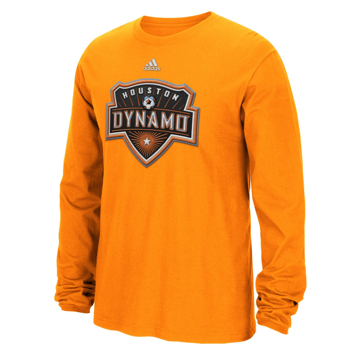"Houston Dynamo Adidas MLS ""High End Patch"" Men's Long Sleeve T-Shirt"