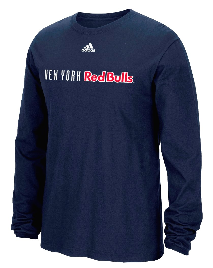"New York Red Bulls Adidas MLS ""Primary One"" Men's Long Sleeve T-Shirt"