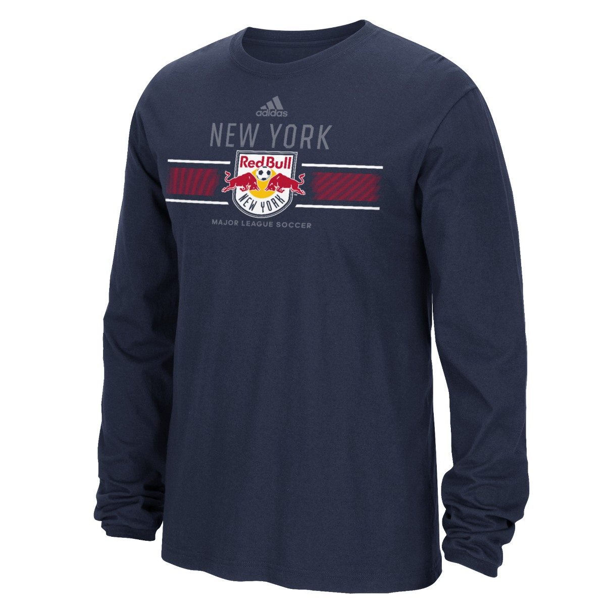 "New York Red Bulls Adidas MLS ""Overlaid"" Men's Long Sleeve T-Shirt"