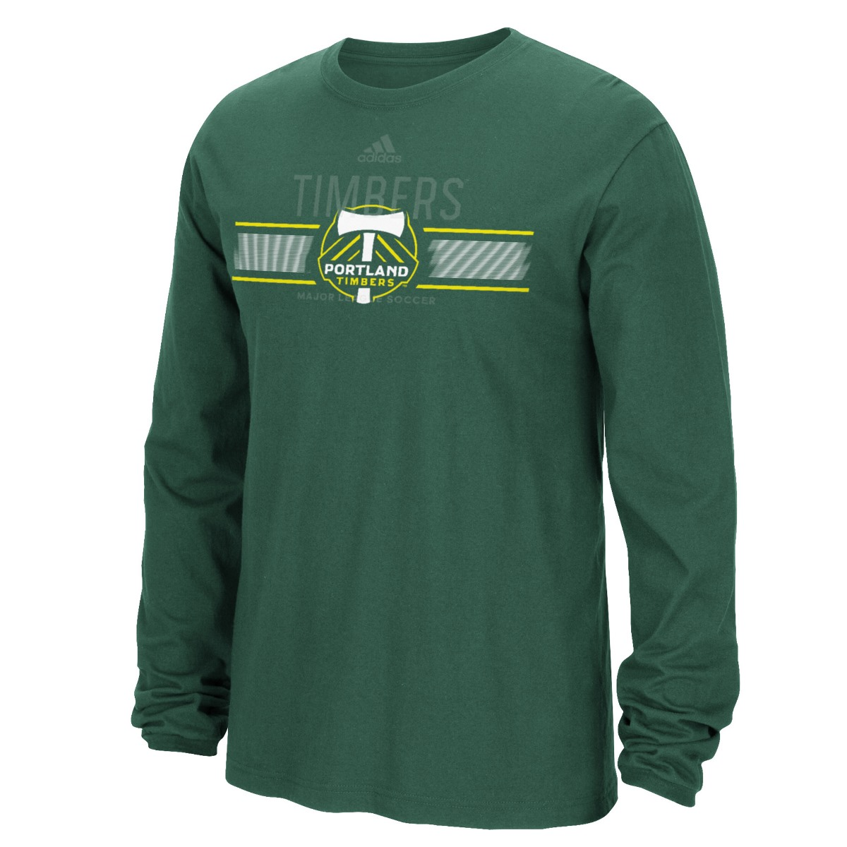 "Portland Timbers Adidas MLS ""Overlaid"" Men's Long Sleeve T-Shirt"