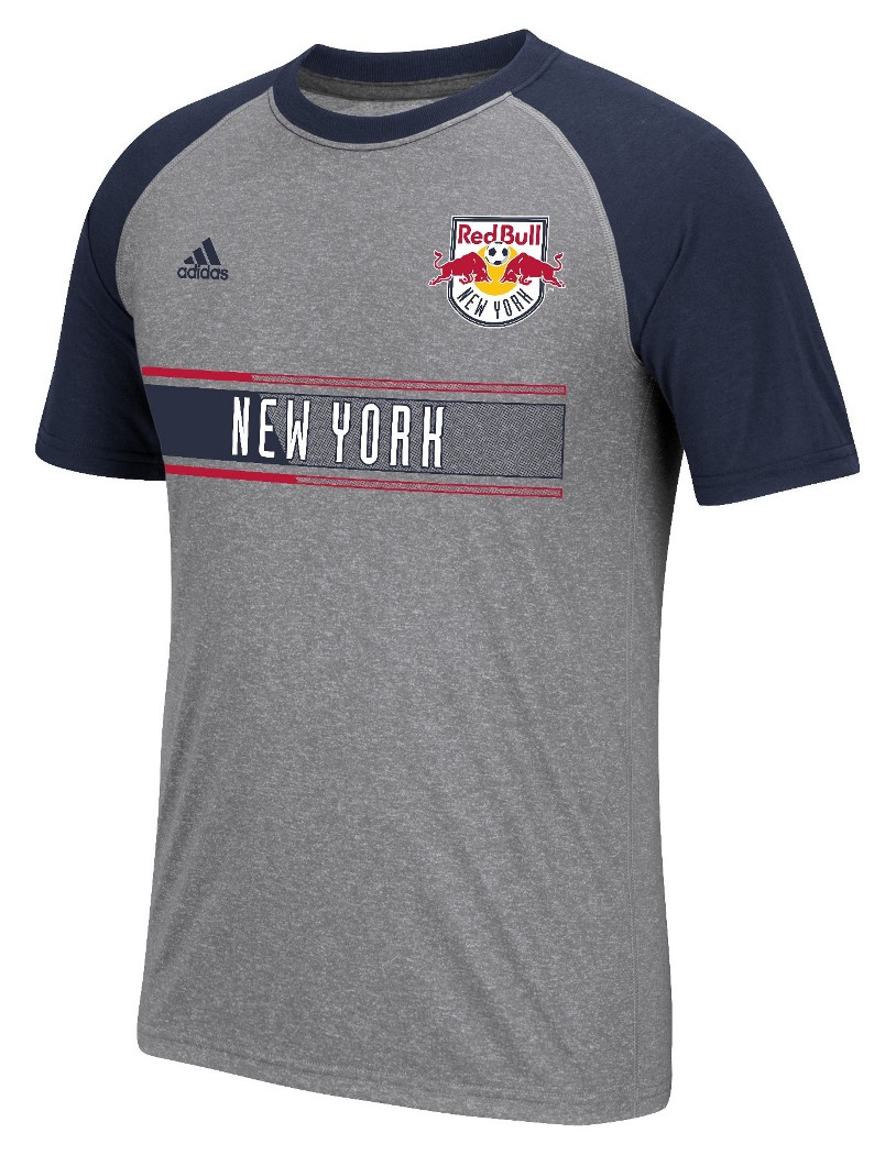 "New York Red Bulls Adidas MLS ""Midfielder"" Men's Climalite S/S T-Shirt"