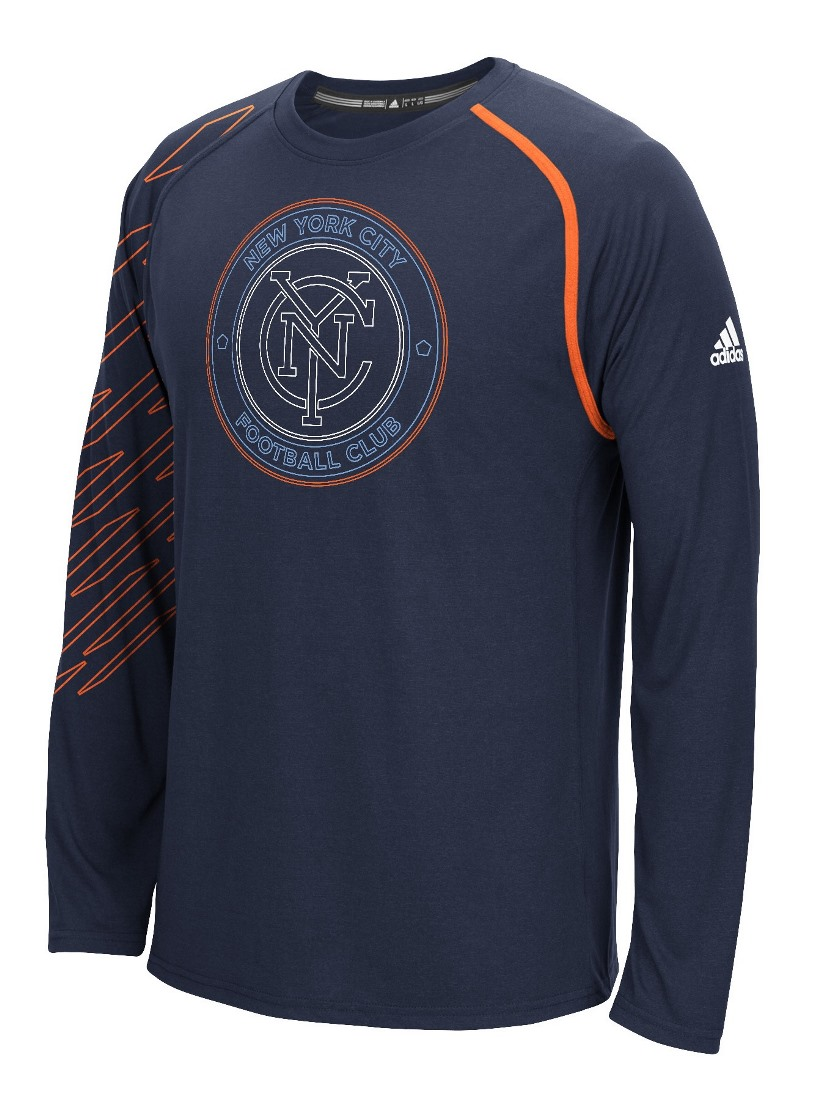 "New York City FC Adidas MLS ""Frequency"" Performance Long Sleeve Jersey Top"