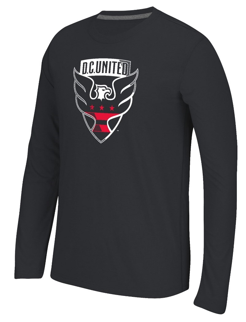"D.C. United Adidas MLS ""Fullback"" Men's Climalite Long Sleeve T-Shirt"