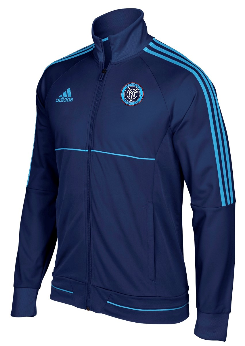 "New York City FC Adidas Men's MLS 2017 ""Anthem"" Sideline Full Zip Jacket"