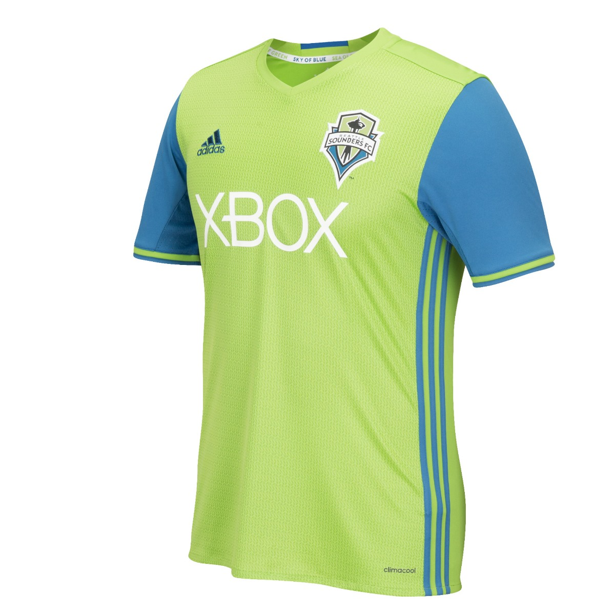 Seattle Sounders Adidas MLS Climalite On-Field Replica S/S Jersey - Lime Green