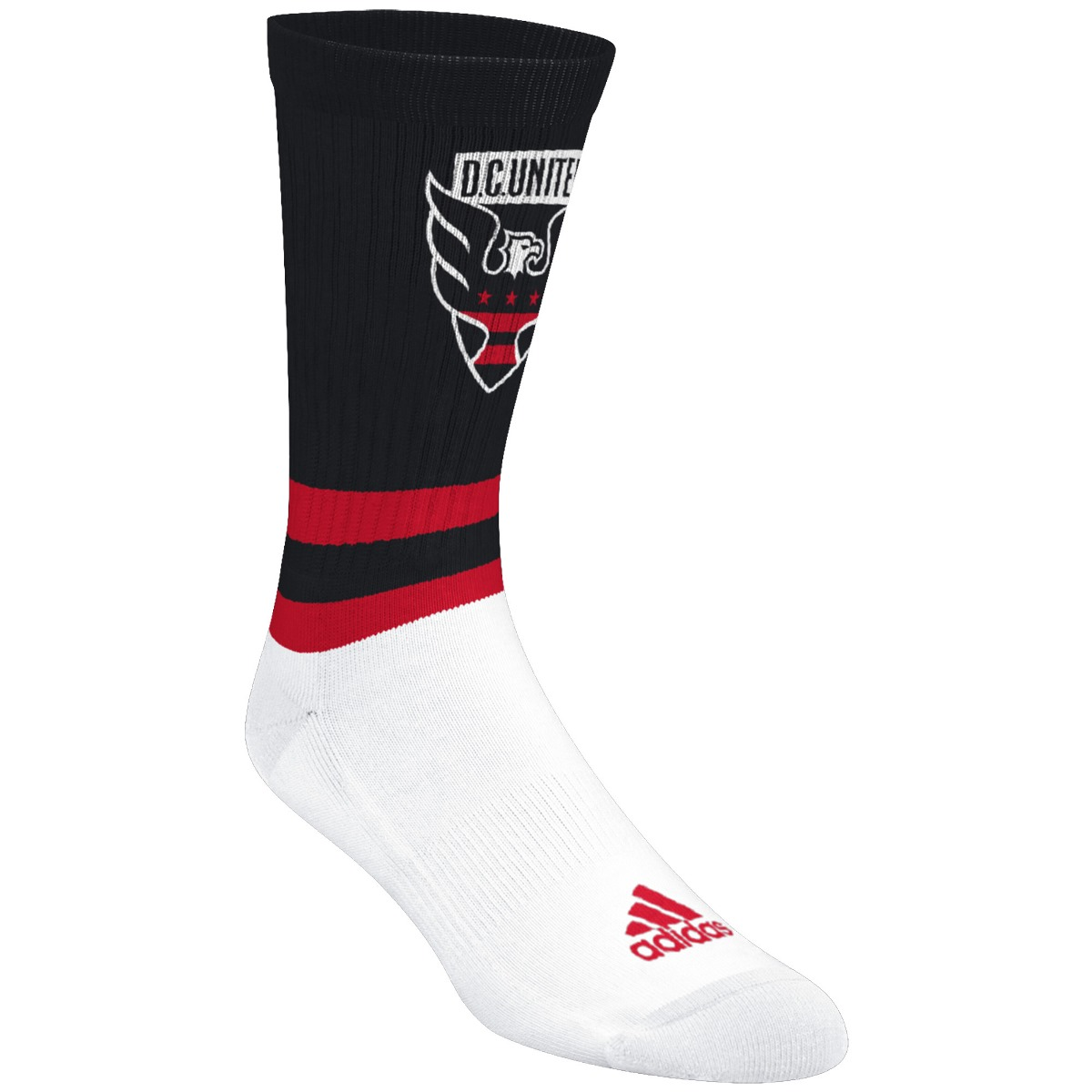 "D.C. United Adidas MLS ""Team Logo on Color"" Jacquard Men's Crew Socks"