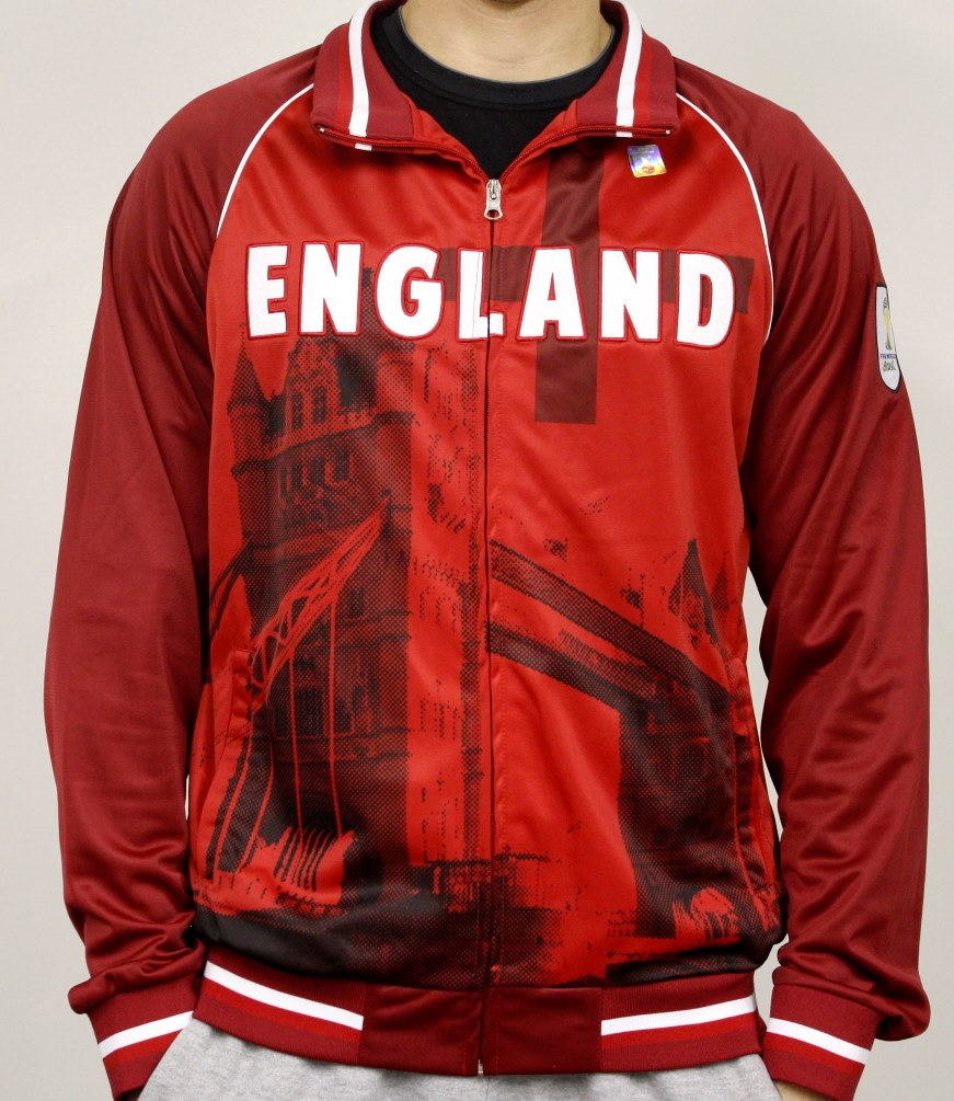 England FIFA 2014 World Cup Soccer Sublimated Track Jacket