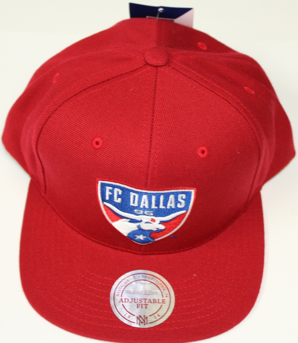 "FC Dallas MLS Mitchell & Ness ""Team Solid"" Snap Back Hat"