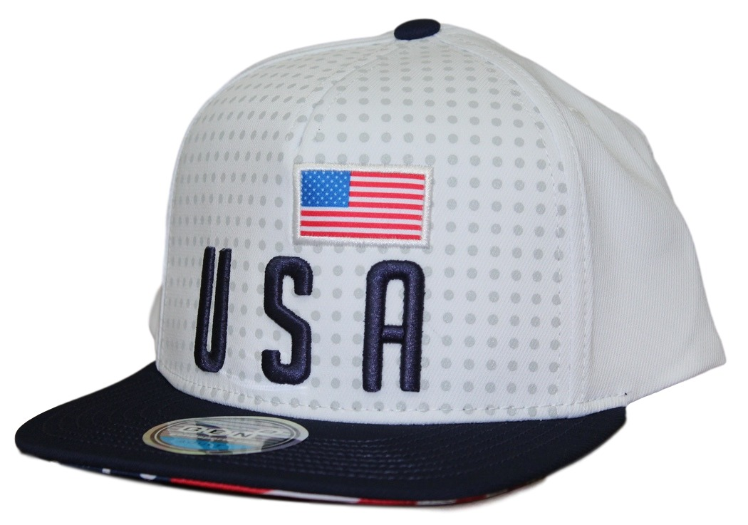 "Team USA World Cup Soccer Federation ""Jersey"" Flat Bill Snap Back Hat"