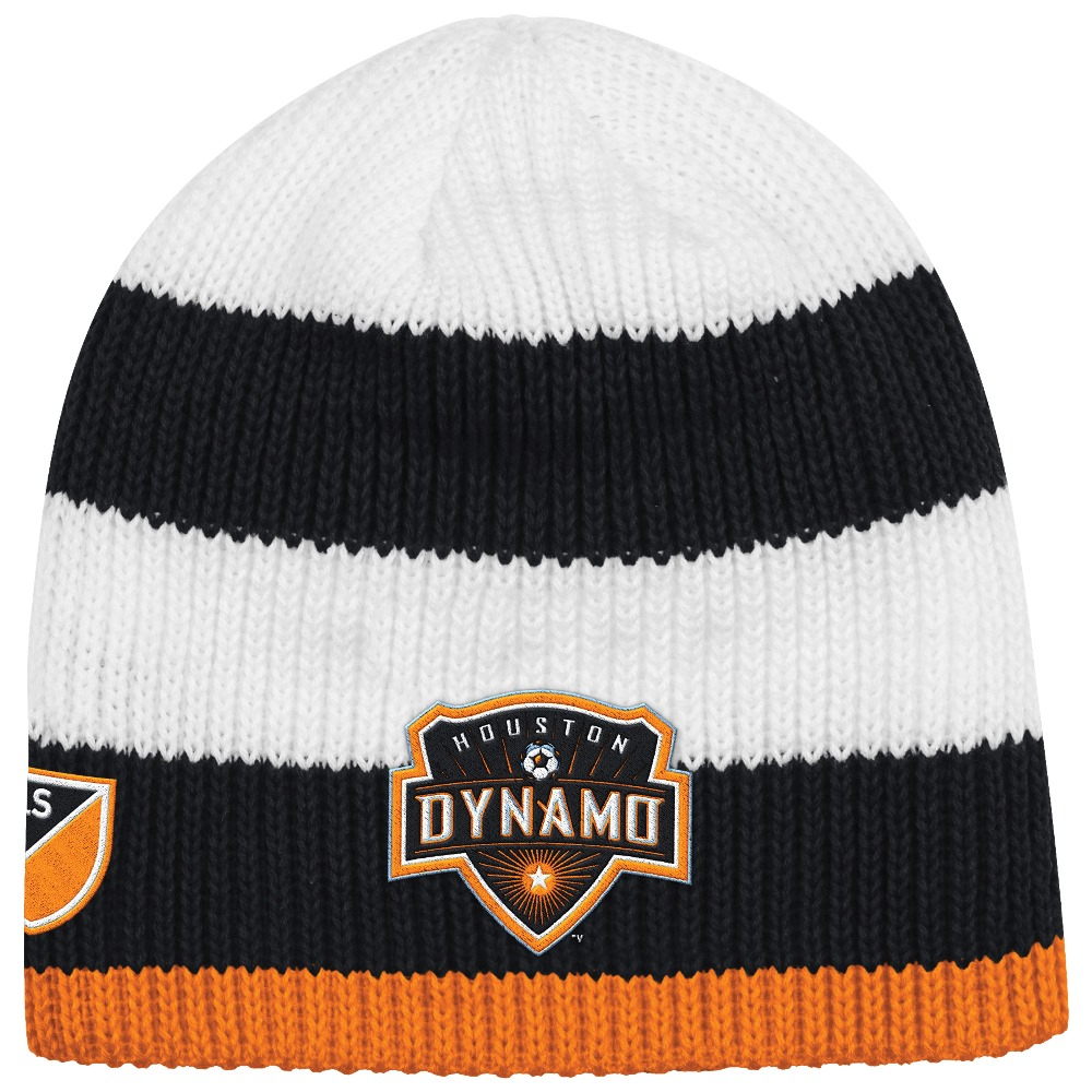 Houston Dynamo Adidas MLS Authentic Draft Cuffless Knit Hat