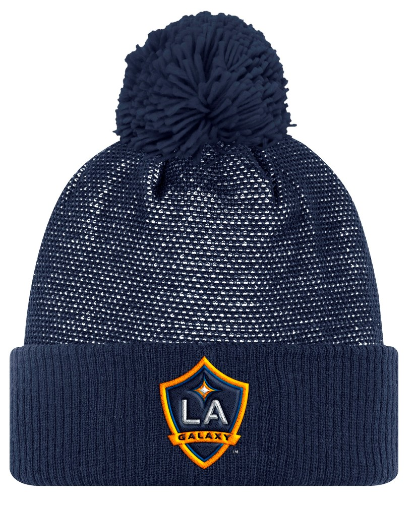 Los Angeles Galaxy Adidas MLS 2017 Authentic Cuffed Knit Hat with Pom