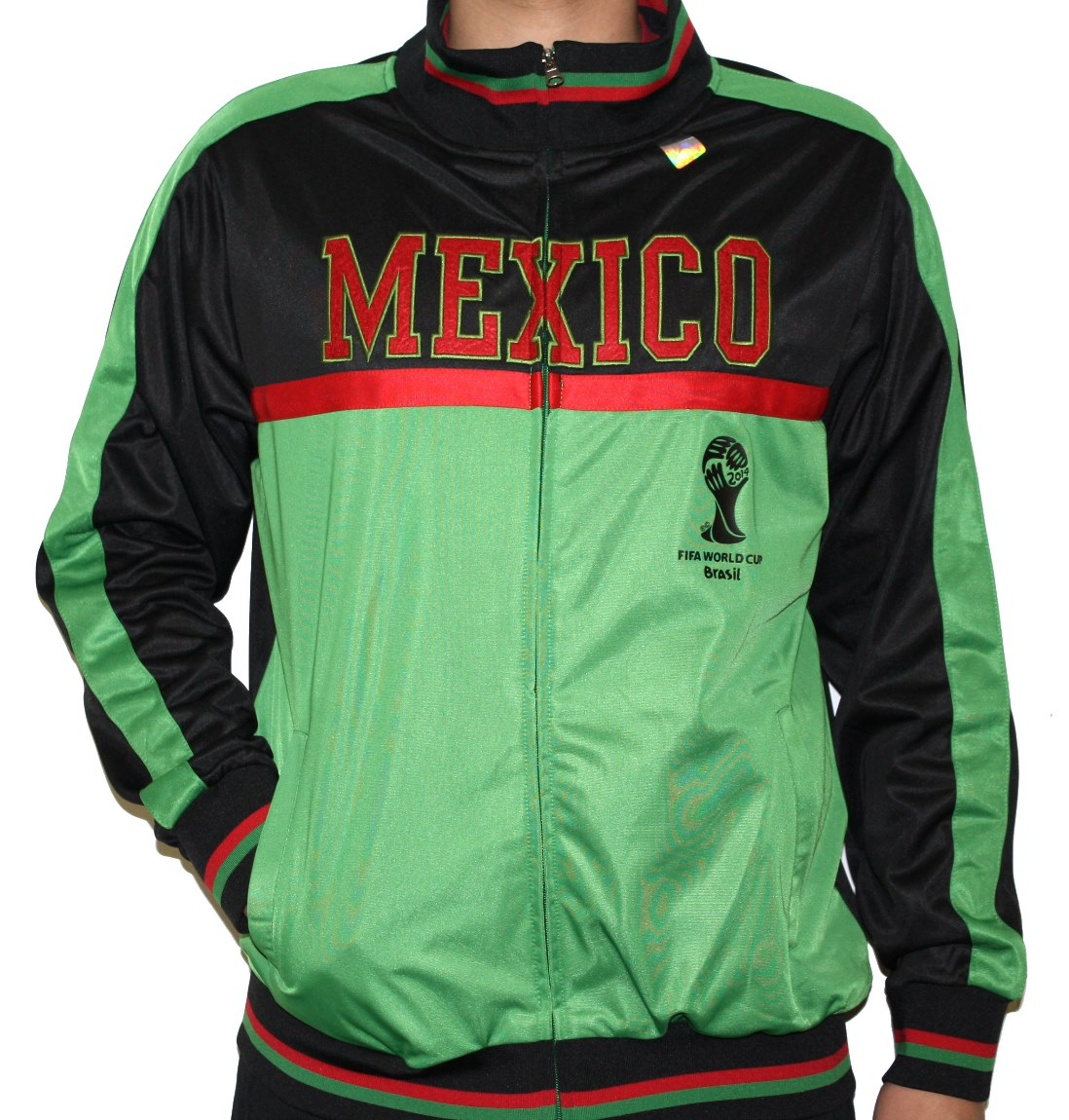 Mexico FIFA 2014 World Cup Soccer Embroidered Track Jacket