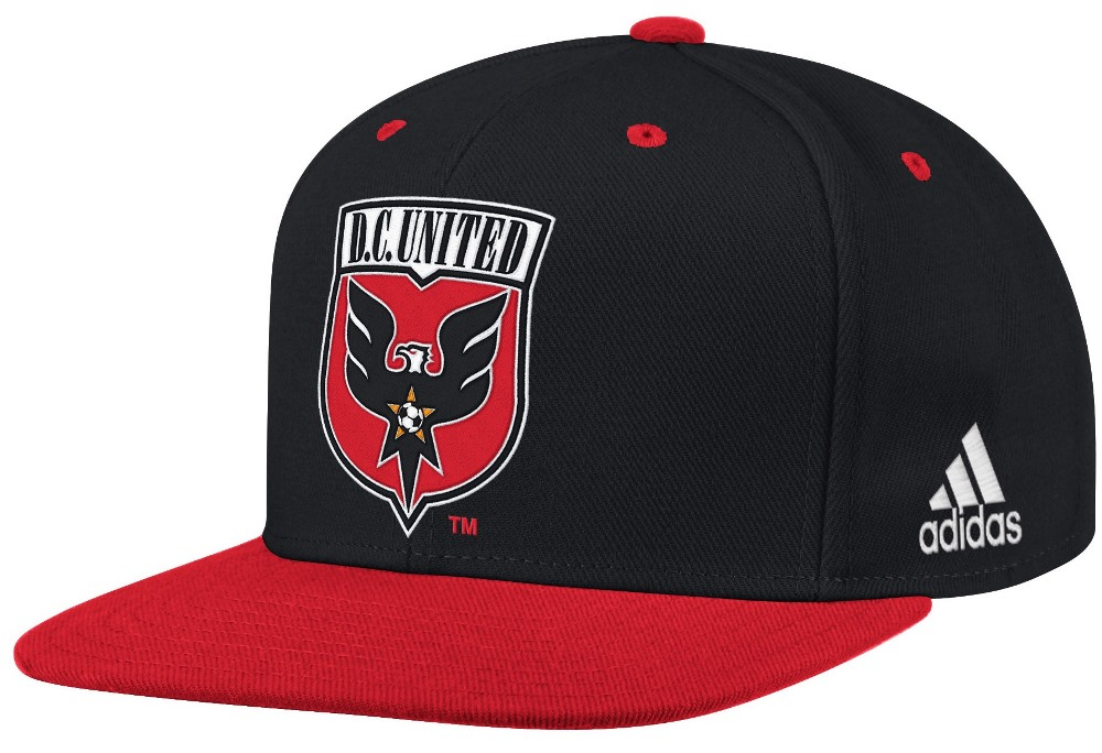 D.C. United Adidas MLS Authentic Flat Brim Team Snap Back Hat