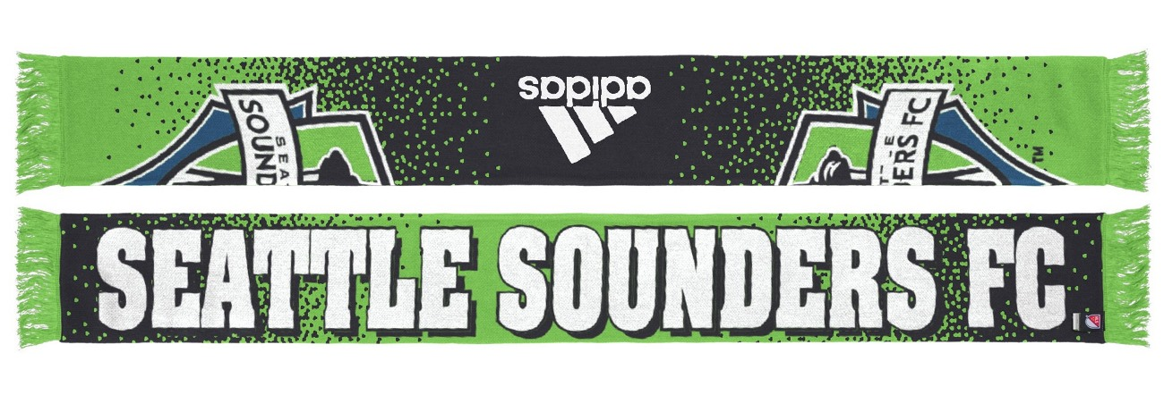 "Seattle Sounders Adidas MLS ""Dotted"" Performance Jacquard Team Scarf"