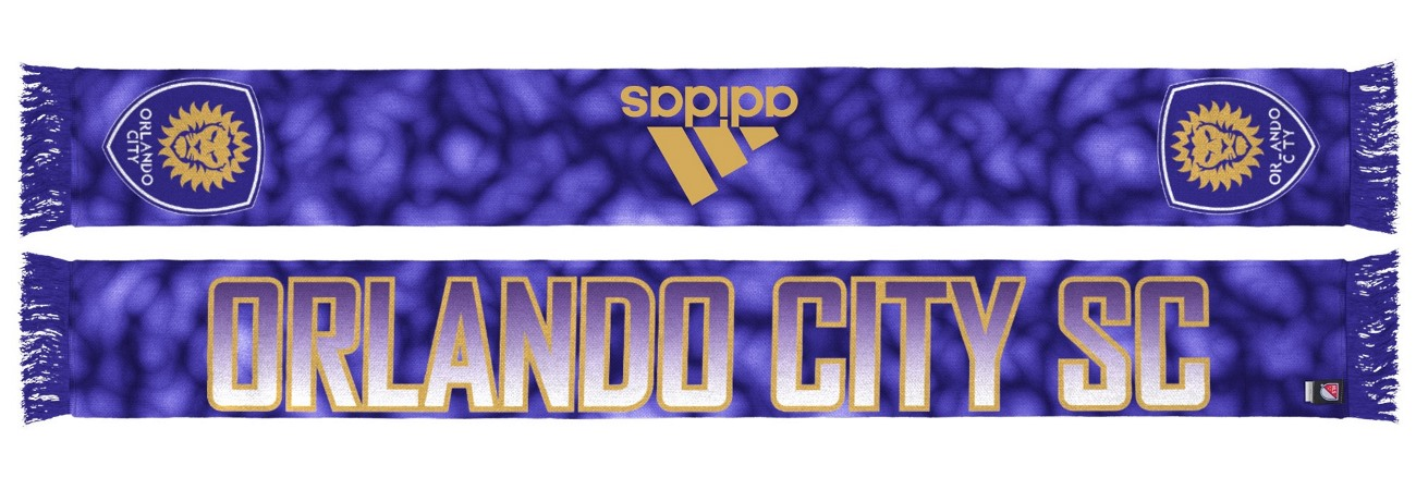 "Orlando City SC Adidas MLS ""Sublimated"" Polyester Team Scarf"