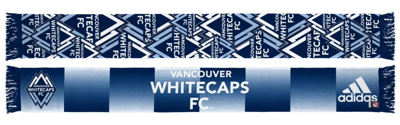 "Vancouver Whitecaps Adidas MLS ""Repeating Logo"" Polyester Team Scarf"