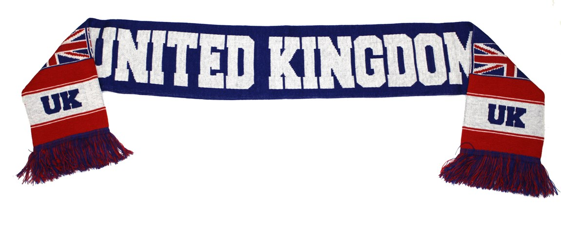 United Kingdom Authentic Country Wordmark Scarf