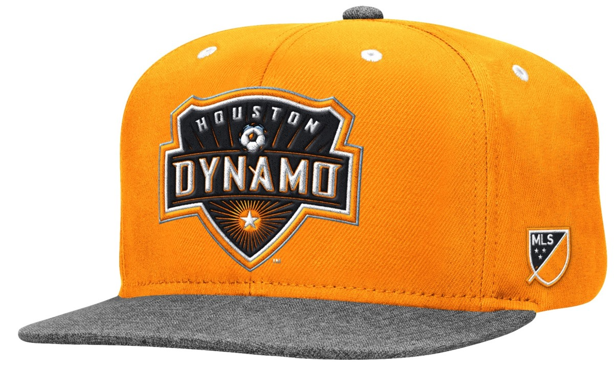 Houston Dynamo Adidas MLS Authentic Flat Brim Team Snap Back Hat