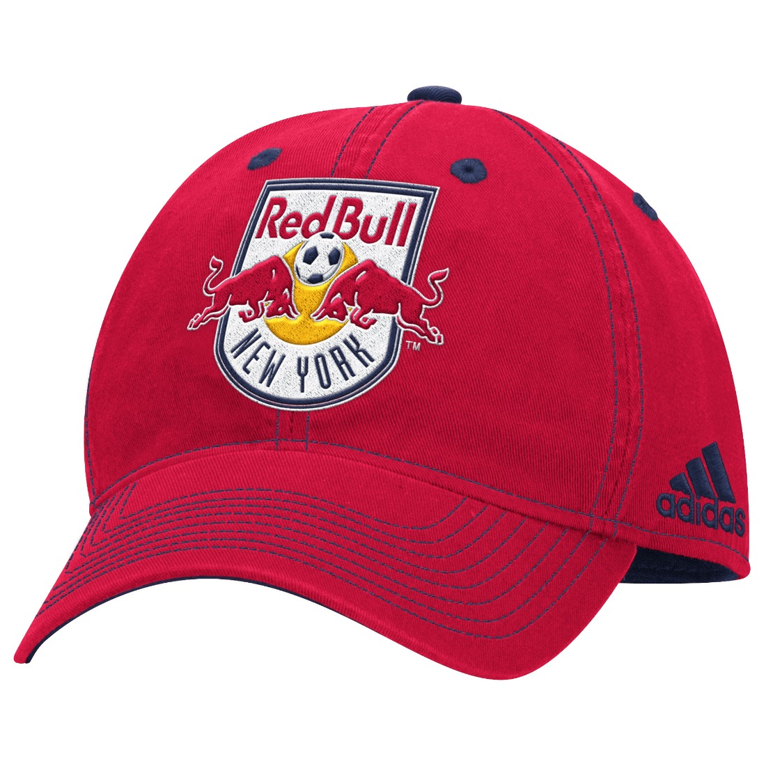 "New York Red Bulls Adidas MLS ""Team Performance"" Structured Adjustable Hat"