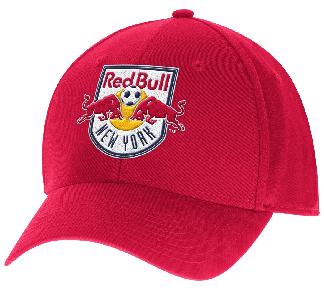 "New York Red Bulls Adidas MLS ""Team Basics"" Structured Adjustable Hat - Red"