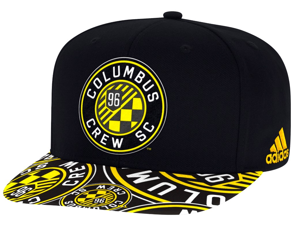 Columbus Crew Adidas MLS Layered Logo Embroidered Snap Back Hat
