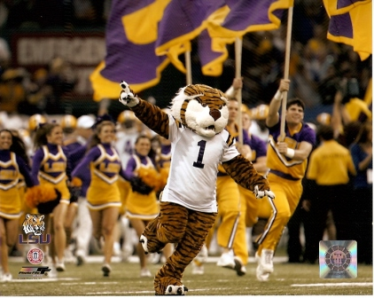 LSU Tigers Mascot Running Onto Field 8x10 Photo