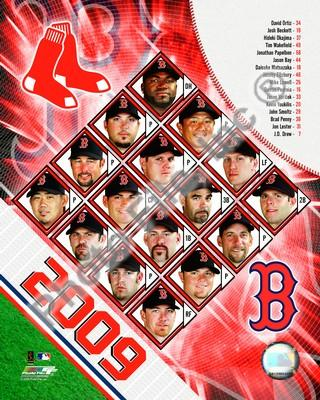 Boston Red Sox 2009 Team Composite 8x10 Photo